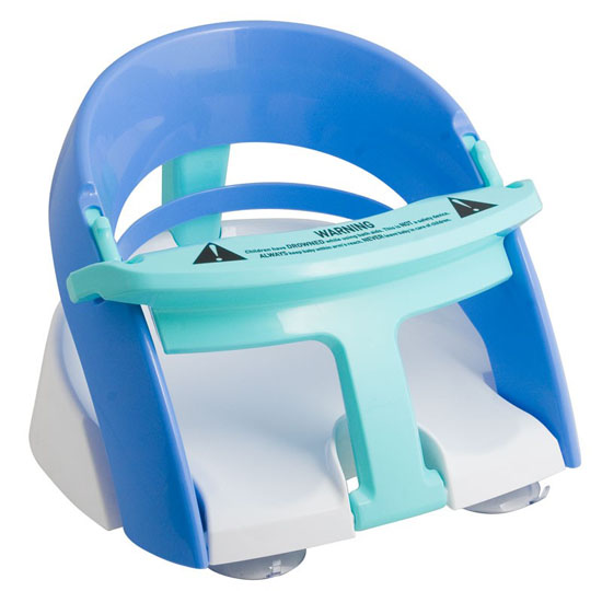 Safety 1st Bathtub Baby Bath Seat Swivel Blue Chair Ring W Suction Cups Infant EBay Baby