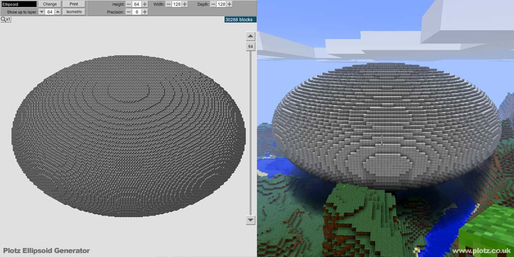 Minecraft Circle Template Generator  how to draw circles and
