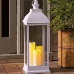 Outdoor Lantern With Led Candles Plowhearth