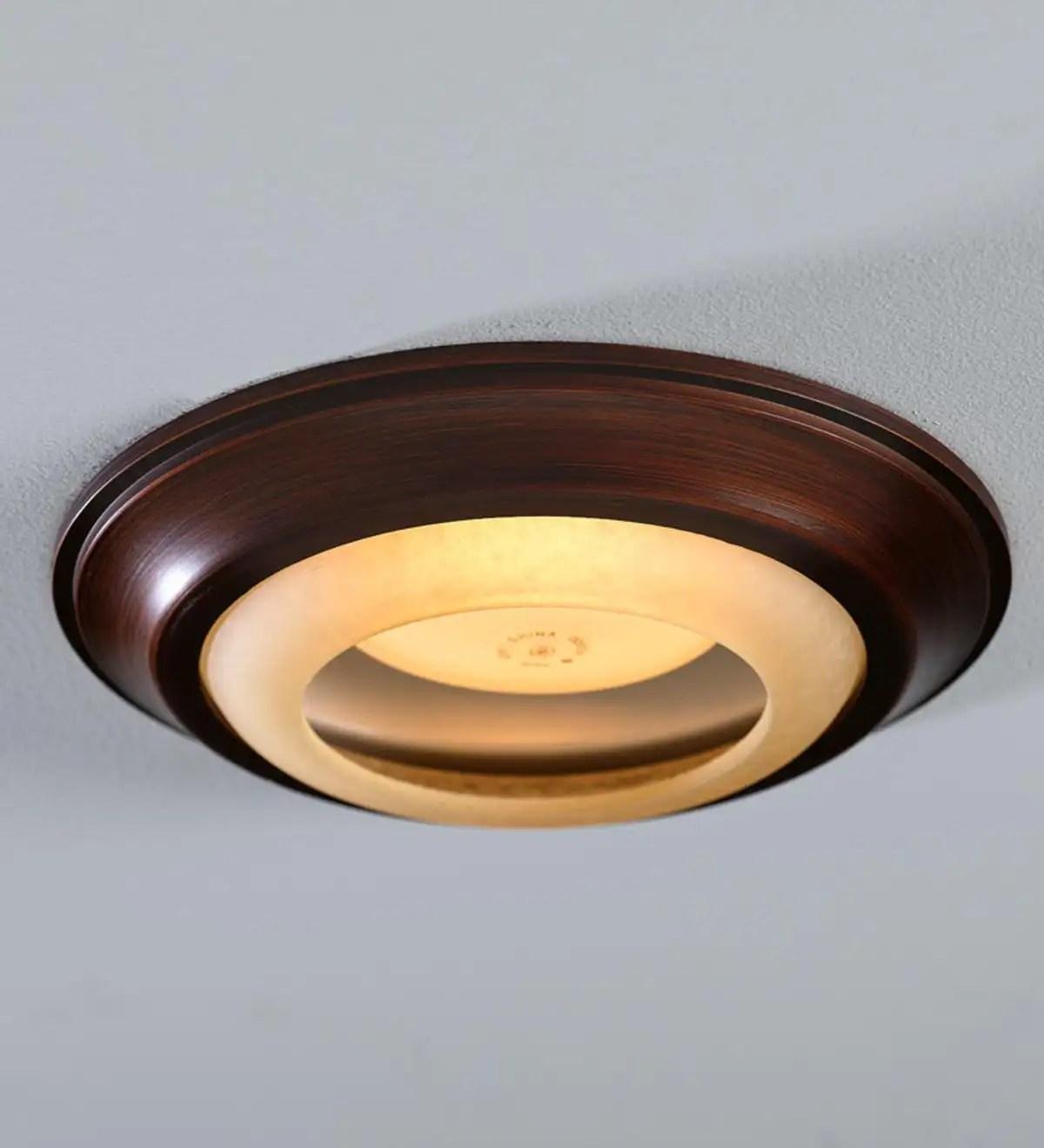 simple trim recessed light cap ring