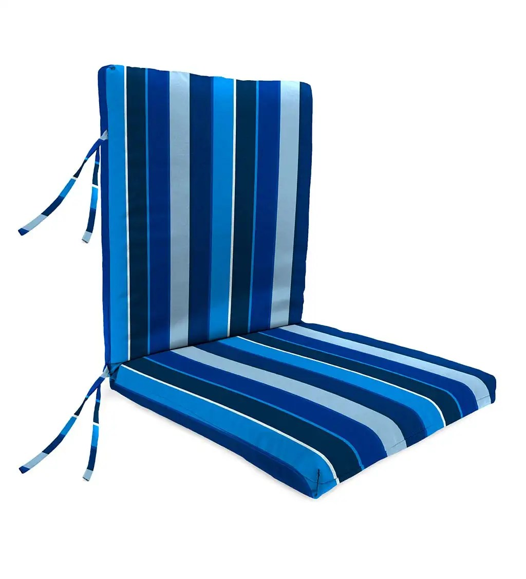 back chair cushion with ties