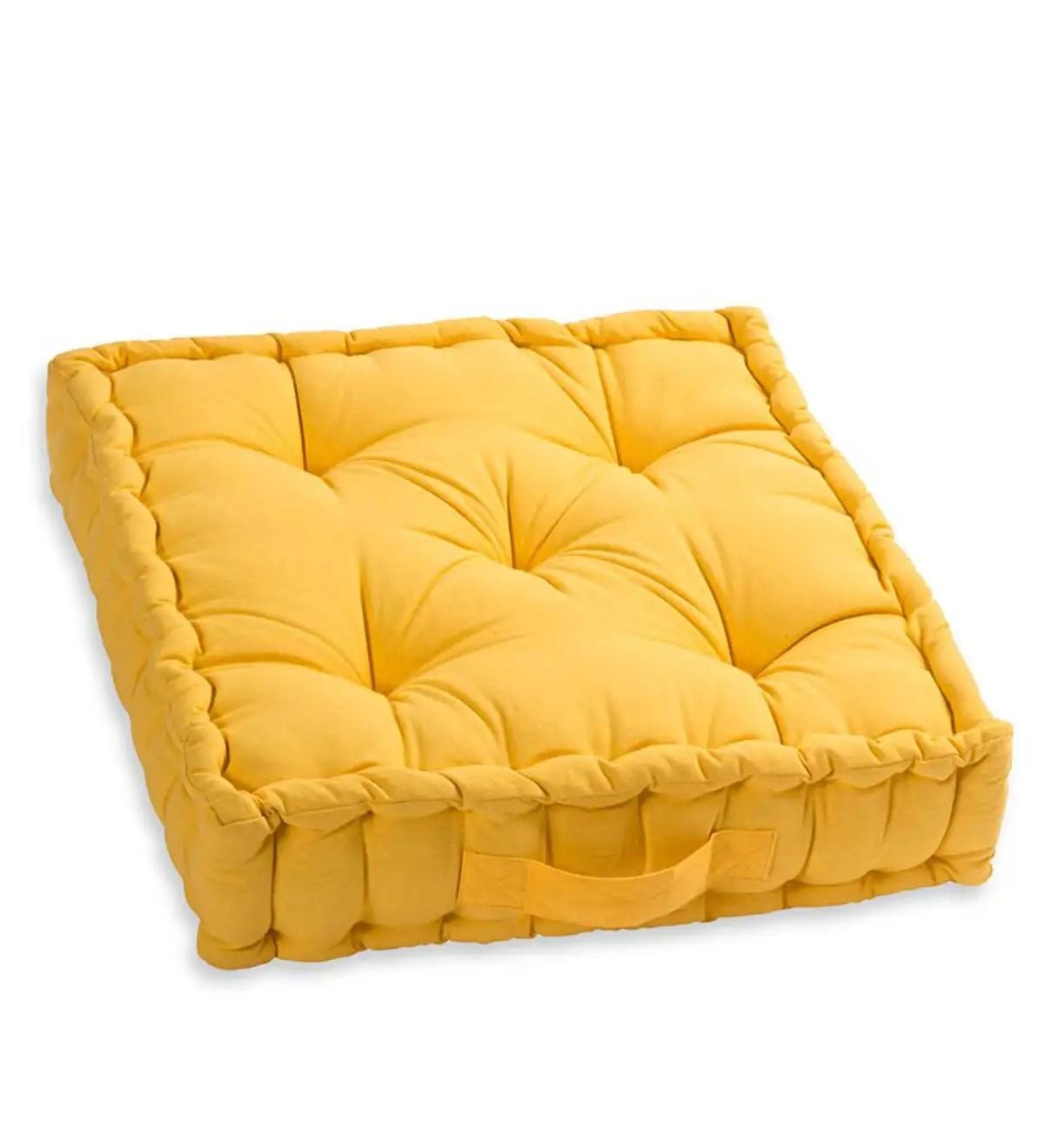 colorful tufted floor cushion plowhearth