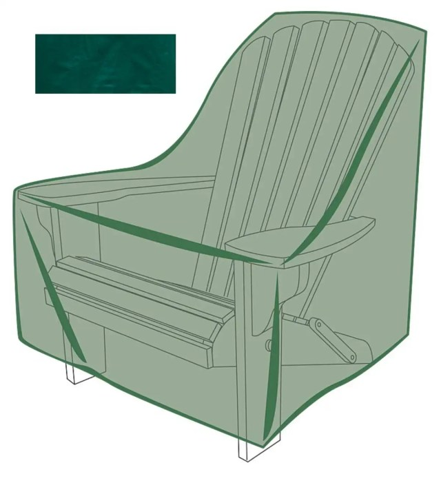 outdoor furniture cover for adirondack chair   plowhearth