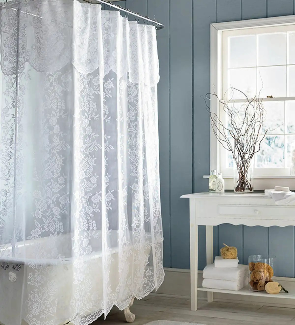 easy care polyester somerset lace shower curtain