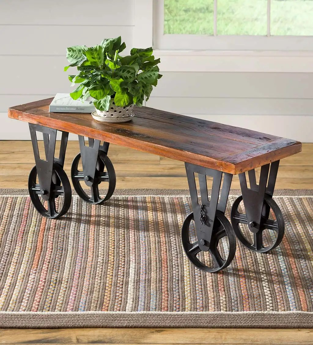 Allegheny Reclaimed Wood Round Nesting Tables Set Of 2 Plowhearth