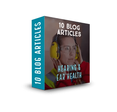 Hearing & Ear Health PLR Articles & Tweet Package