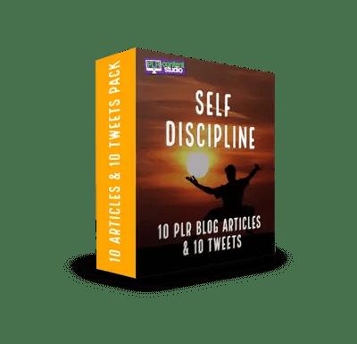 Self Discipline PLR Article & Tweet Pack$9.99