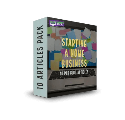 Starting a Home-Based Business PLR Article Pack  $7.99