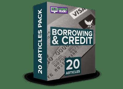 borrowing-credit-plr-articles