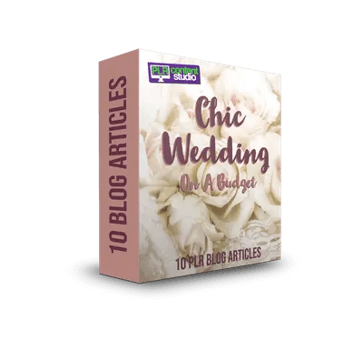 Chic Wedding On A Budget PLR Article Pack  $5.99