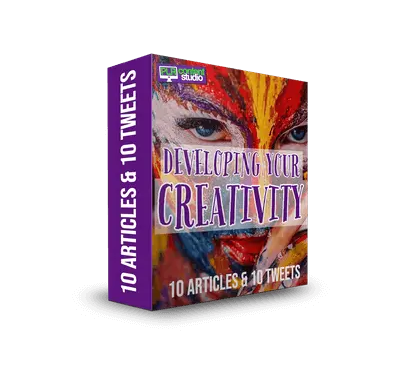 Developing Your Creativity PLR Articles & Tweets $9.99