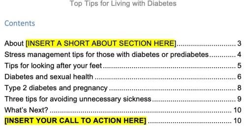 diabetes-plr-report-top-tips