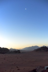 Dawn in the desert