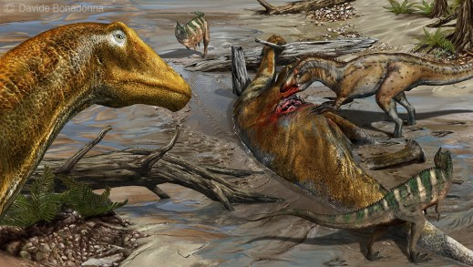 11-Galeamopus-and-Allosaurus