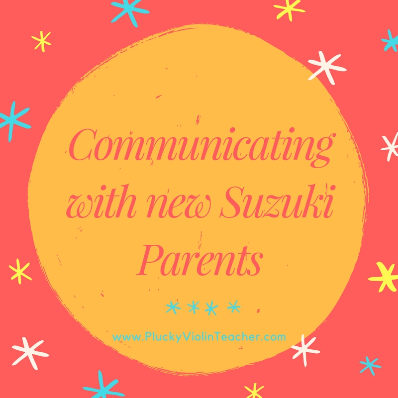 The way that we communicate with new Suzuki parents can make or break the whole process. Here's how you can set up a system to help you communicate expectations effectively. via Plucky Violin Teacher.
