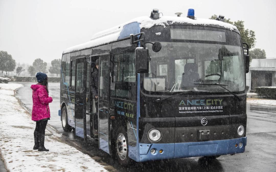 China y sus nuevos autobuses sin conductor.