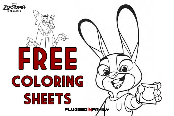 Download Free Zootopia Coloring Sheets Plugged In Family