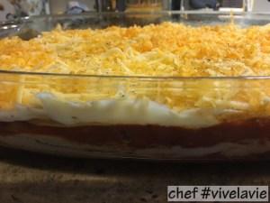 Verse lasagne met kip, gerookt spek en bechamel