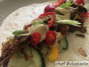pulled beef wrap