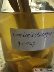 Gember citroengras likeur