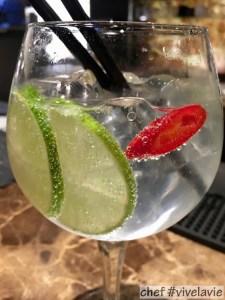 Gin-tonic met limoen & peper