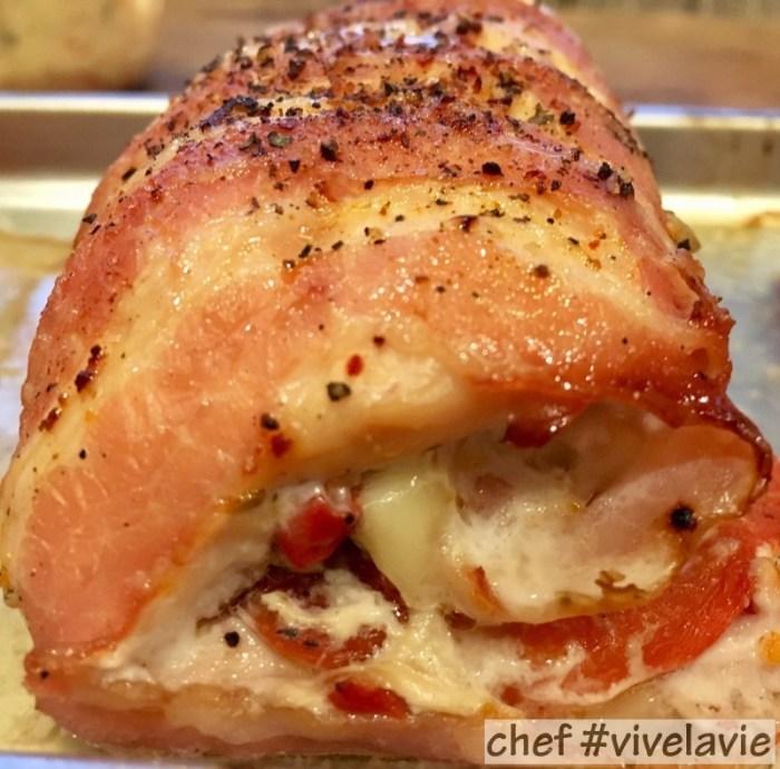 Italiaans gekruide en gevulde kipfilets