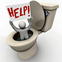 man in toilet Plumbing Repair .... How do you do it?