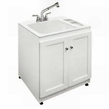 Utility Sink With Cabinet Utility Sink And What It Cost To Have Installed.