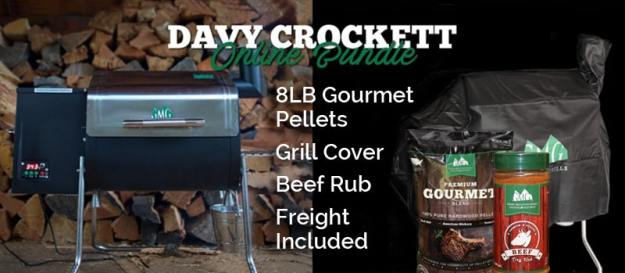 davy crockett pellet grill starter kit online bundle