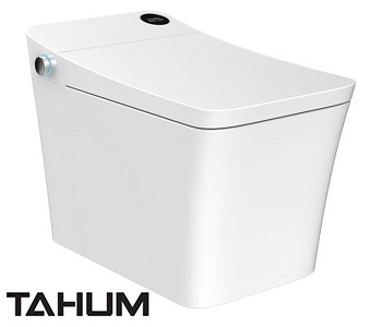side view of trone tahum bidet toilet combo