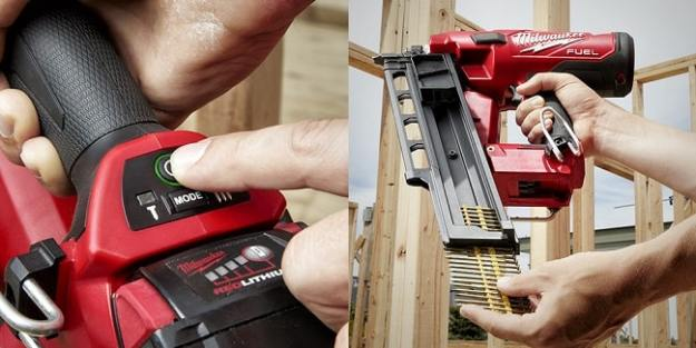 m18 fuel nailer magazine and startup button