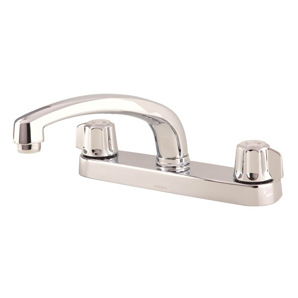gerber classics 2h kitchen faucet deck plate mounted w out spray an