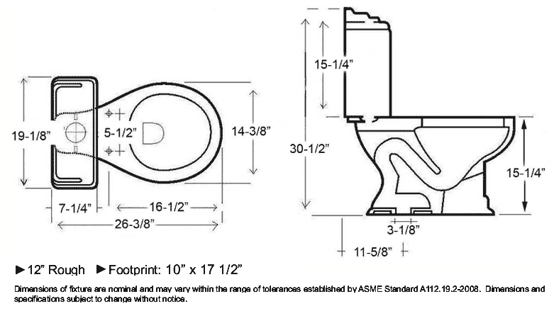 standard urinal size. Black Bedroom Furniture Sets. Home Design Ideas
