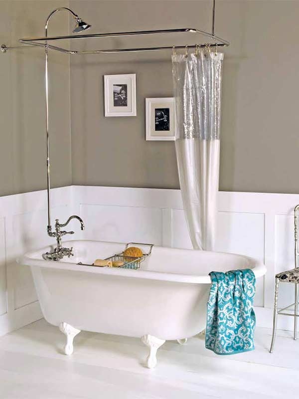 Luxury Geneva Clawfoot Bathtubs And Faucet Shower Enclosure Sets