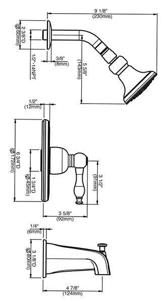 Danze Shower Diverter Valve Parts