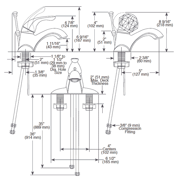 Bathroom Faucet Dimensions delta bathroom faucets installation instructions - bathroom design