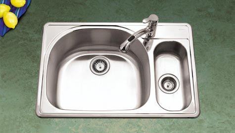 Stainless Steel Double Bowl Drop In Kitchen Sinks