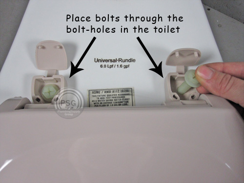 how to install bolts on a toilet seat