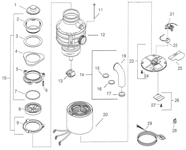 repair parts for insinkerator badger 1