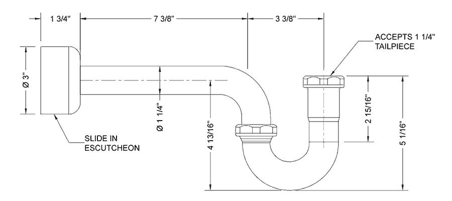 Decorative P Traps Fancy Bathroom Drains