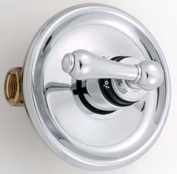lever handle retro style tub shower valves