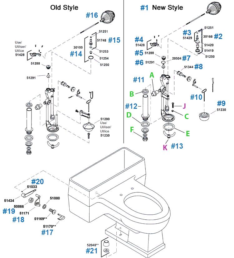 pompton series toilet repair parts by