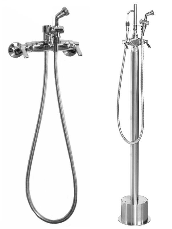 hot cold outdoor handspray faucets