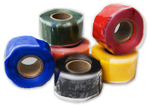 A variety of colors of silicone repair tape