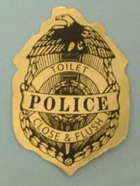 Toilet police sticker photo