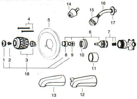 back tub shower replacement parts