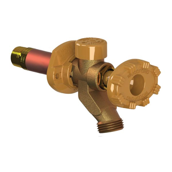 pressure reducing freezeless wall faucets with anti siphon protection