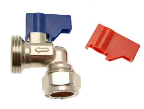 ANGLED WASHING MACHINE VALVE
