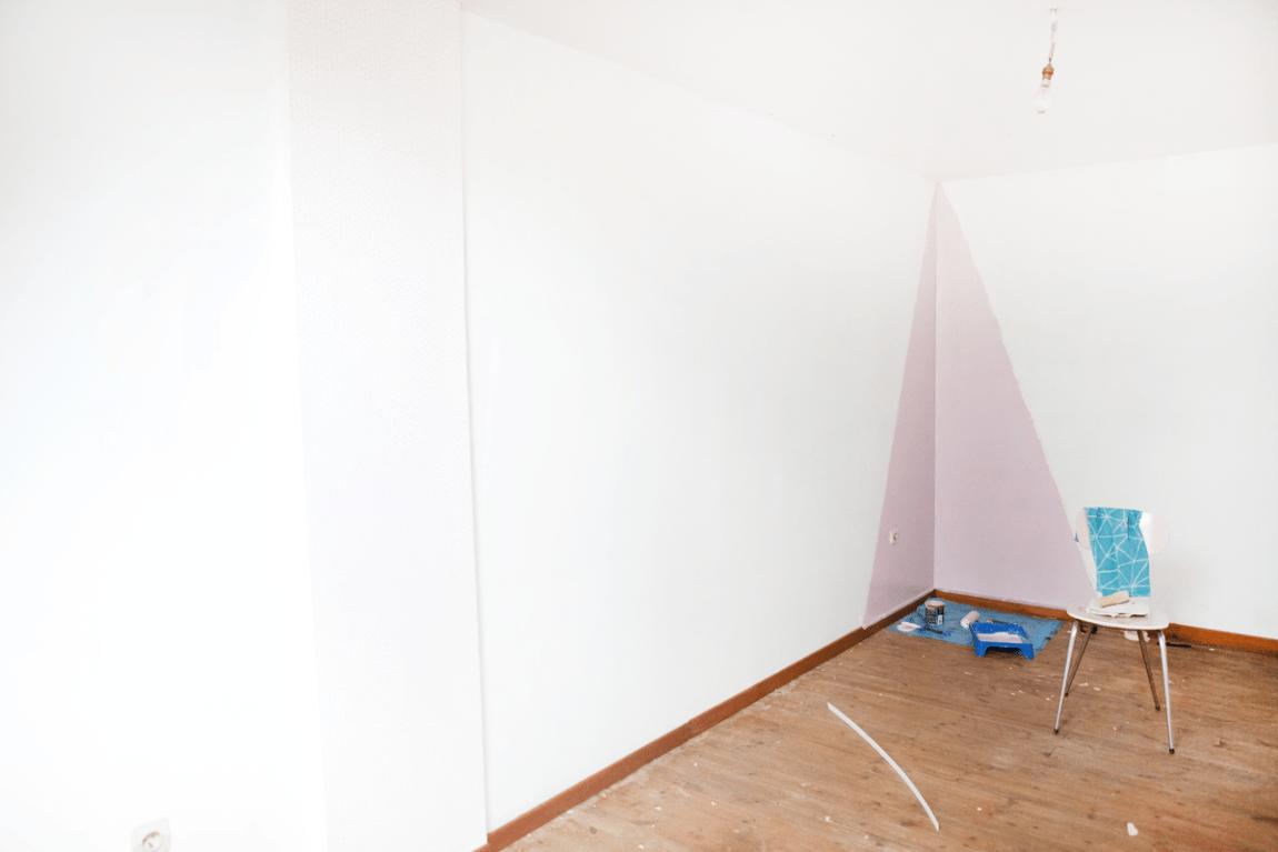 Peindre Triangle Sur Mur la chambre d'alice : le triangle d'angle. | plume & picoti
