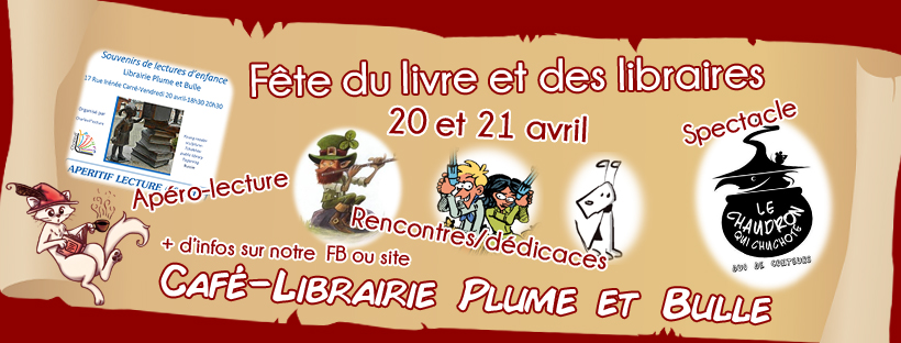 Programme de la Fête du livre et des libraires chez Plume et Bulle